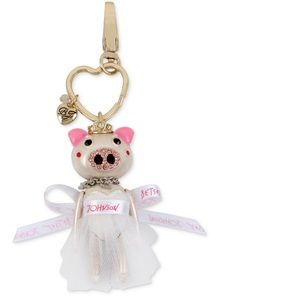 Betsey Johnson Pig Bride Keychain